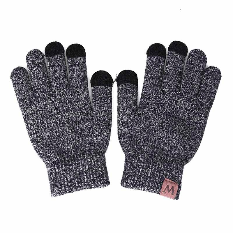 YEABIU, зимняя женская шапка, шарф, перчатки, набор, теплые, для девушек, Skullies Beanies, шапка, Infinity, для мужчин, шапка с сенсорным экраном, перчатки, набор для женщин - Цвет: middle grey2