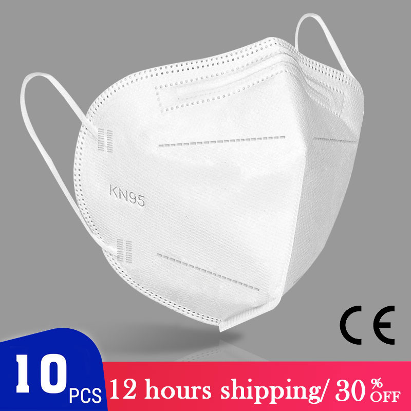 KN95 Mask CE Certification Face Mask Disposable Anti-Virus Anti-Dust N95 FFP2 FPP3 Anti Haze Pollution N95 Mouth Masks PM2.5 DHL