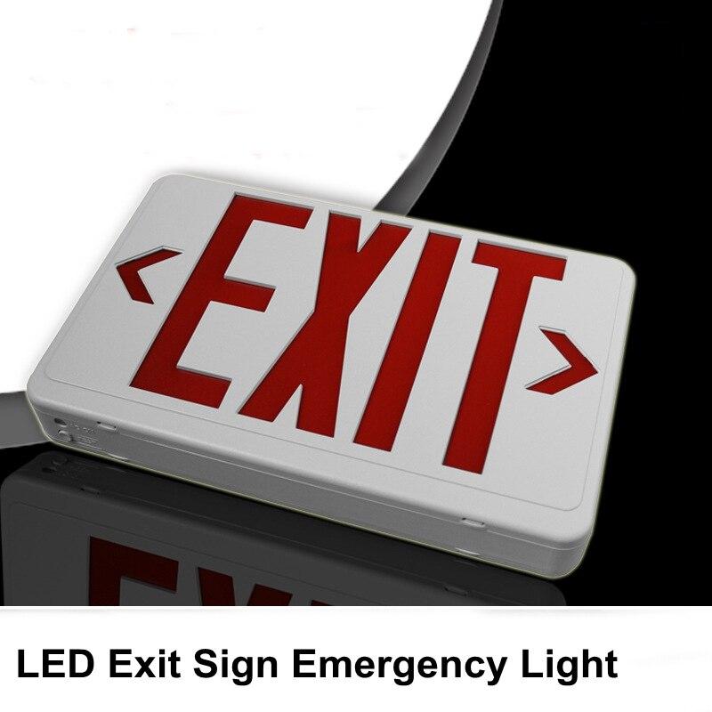 LED Exit Sign Emergency Light Indicator Light Direction Arrow Fire Disaster Emergency Lamp 110v/220v For Home Office Apartment