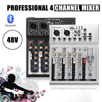 LEORY Professional 4 Channels Live DJ Audio Mixer bluetooth Sound Mixing Console With USB MP3 Jack For Karaoke KTV Music Show