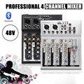 Leory Professionele 4 Kanalen Live Dj Audio Mixer Bluetooth Sound Mixing Console Met Usb MP3 Jack Voor Karaoke Ktv Muziek tonen