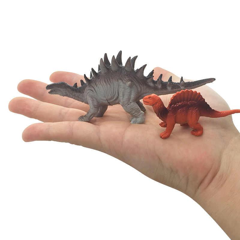 13 pçs/lote mini dinossauro modelo crianças brinquedos educativos bonito simulação animal pequenas figuras para o presente do menino para crianças brinquedos