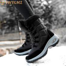 New Winter Women Boots High Quality Keep Warm Mid-Calf Snow Boots Women Lace-up Comfortable Boots Chaussures Femme Botas Mujer
