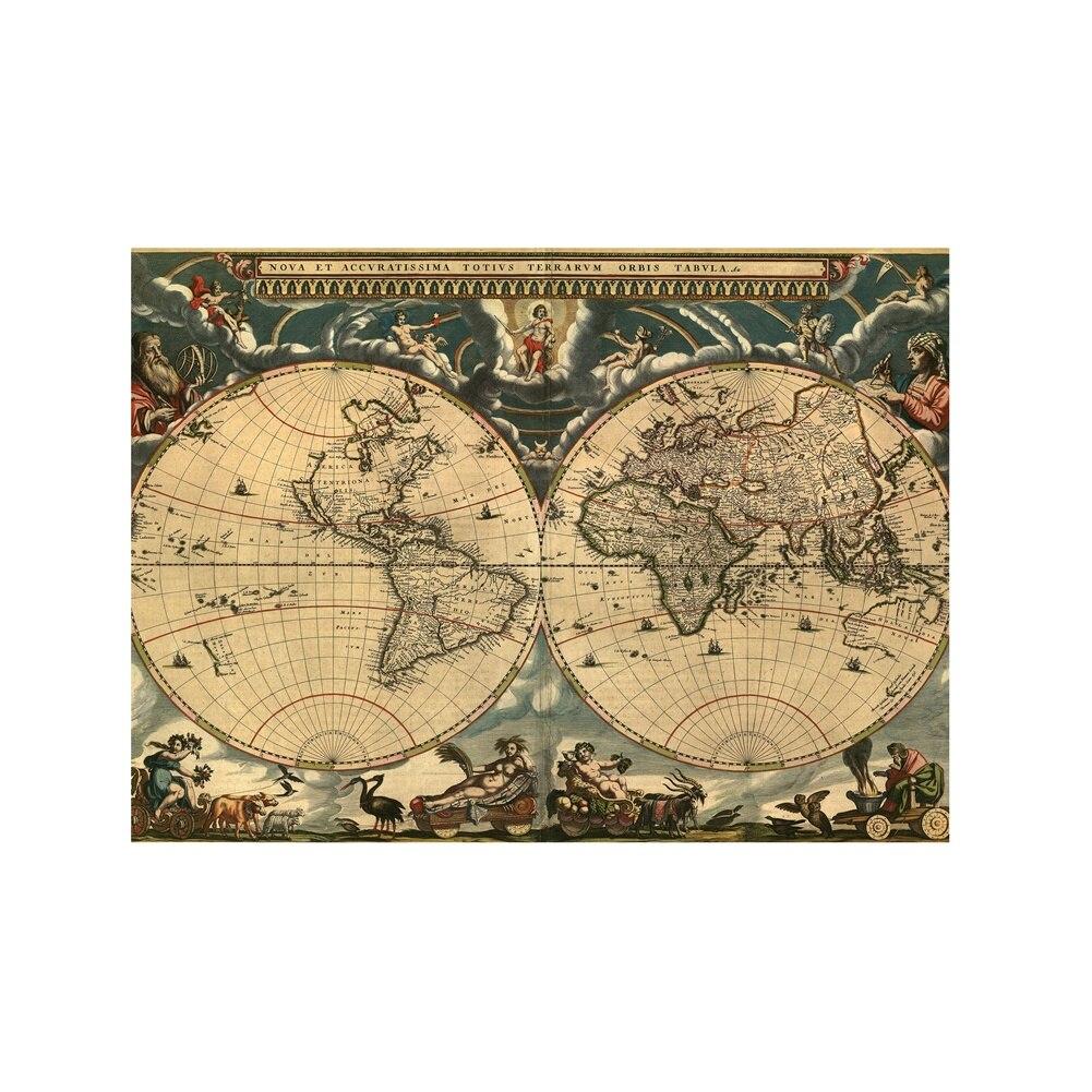 A2 tamanho retro mapa do mundo belas