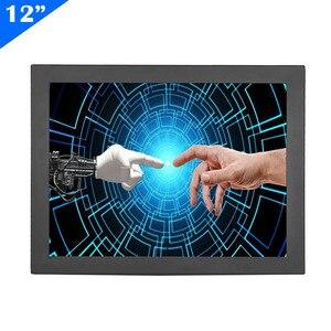 ZHIXIANDA monitor táctil industrial capacitivo de 12 pulgadas con marco abierto con entrada HDMI VGA/d-sub BNC AV USB