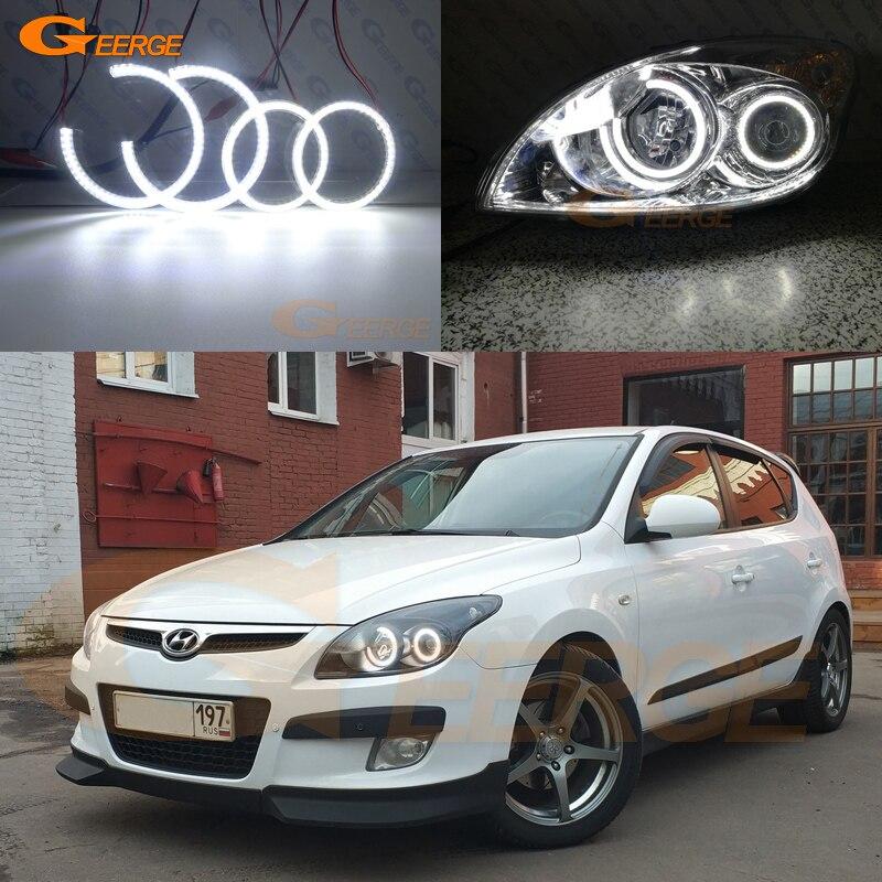 For Hyundai I30 FD 2007 2008 2009 2010 2011 2012 Excellent Smd Led Angel Eyes Kit DRL Ultra Bright Illumination