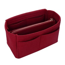 Multi-function Fashion Portable Storage Bag  Travel Tote Detachable Felt Finishing Women Decoration
