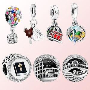 2020 New s925 Sterling Silver Balloon, Carousel Series Charm Beaded fit Original 3mm Bracelet Ladies DIY Jewelry S1574