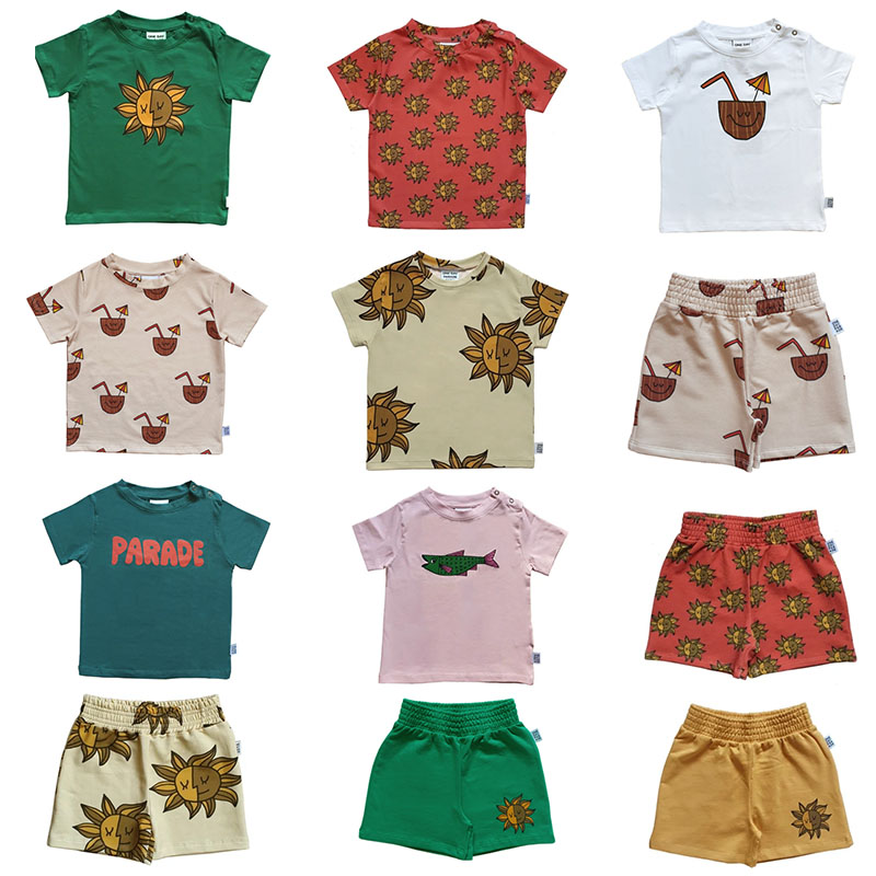One Day Kids Summer Short Sleeve T Shirt Boy Girl Sun Pattern Top Fashion Brand Child Tshirts Toddler Stylish Tops For Summer