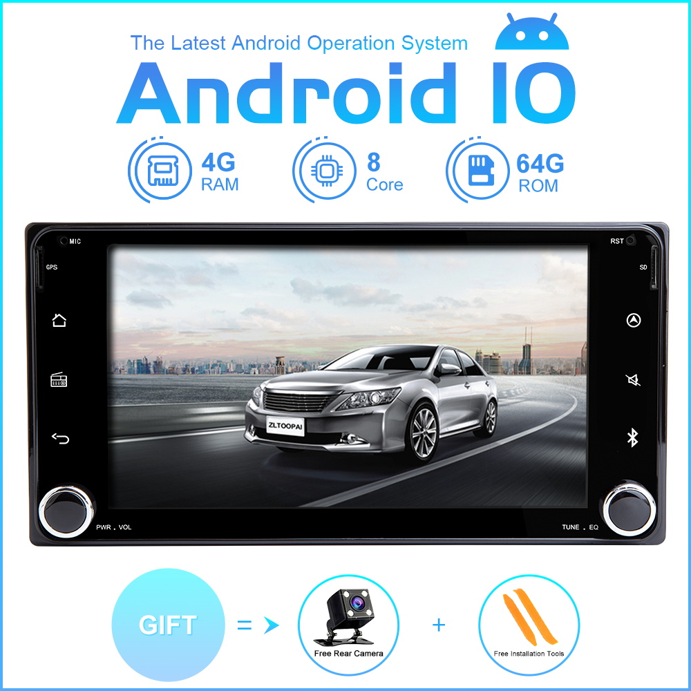 ZLTOOPAI Car Multimedia Player 2 Din For Toyota Universal RAV4 COROLLA CAMRY VIOS HILUX Terios Land Cruiser <font><b>100</b></font> Auto Radio <font><b>GPS</b></font> image