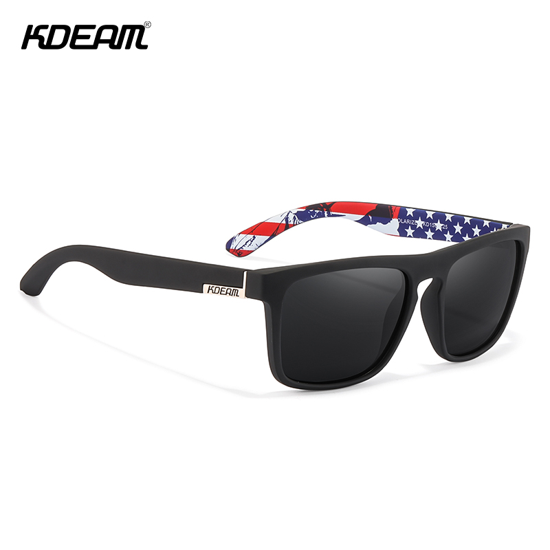 KDEAM Fashion Exclusive Sun Glasses Original Brand Polarized Sunglasses Men Classic Design All Fit Eyewear  Oculos De Sol