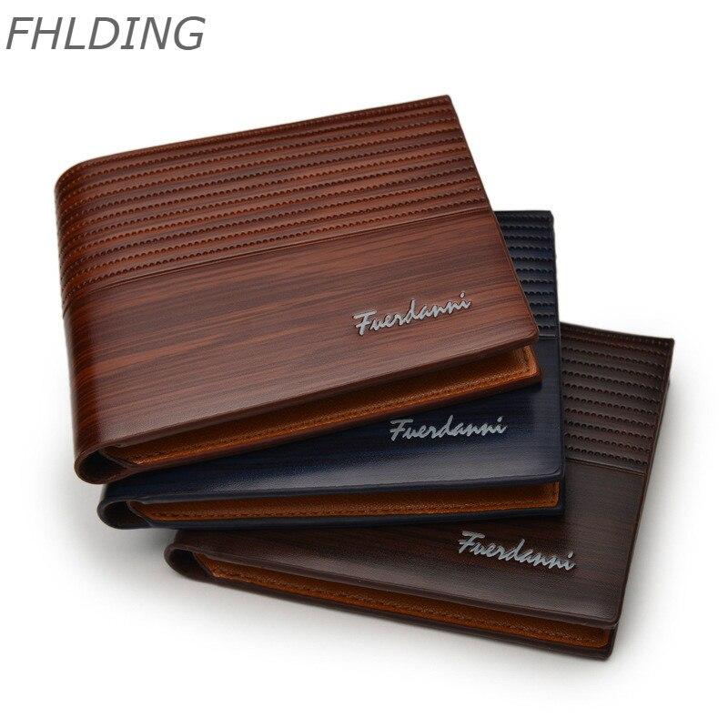 2020 Top Vintage Men's Leather Brand Luxury Wallet Short Men's Wallet Credit Card Fashion Short Slim Male Embossed Wallet Purses