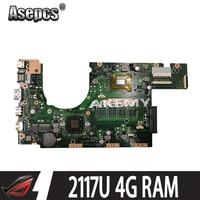 Met 4G Ram 2117 Cpu S300CA Laptop Moederbord Voor For Asus Vivobook S300CA S300C S300 Test Originele Moederbord