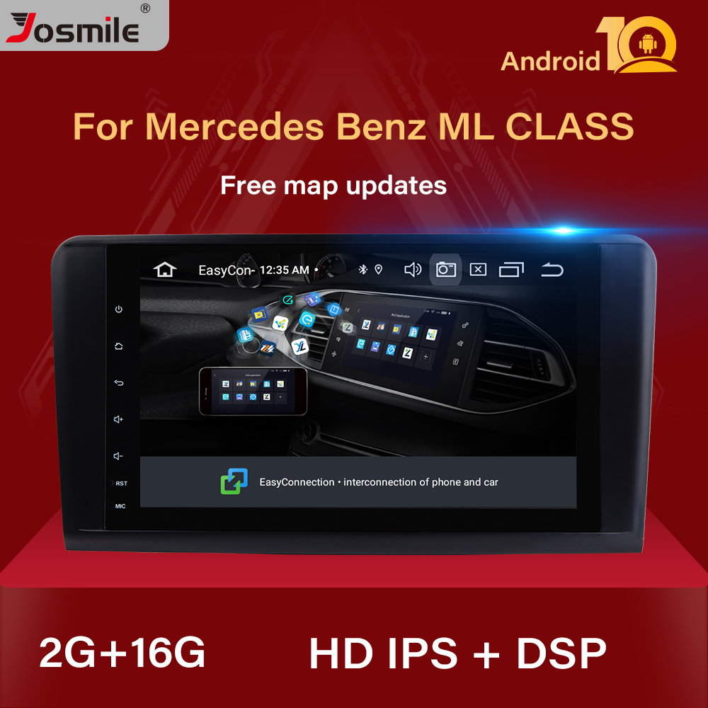 2+16 G IPS DSP Android 10 Car Radio For <font><b>Mercedes</b></font> Benz <font><b>ML</b></font> W164 ML350 ML500 X164 GL320 GL Multimedia GPS Navigation Stereo Audio image