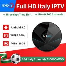 ITHDTV IPTV Italy Arabic France IP TV Box HK1 MINI+ Android 9.0 4G+128G BT Dual-Band WIFI French IPTV France Arabic Spain Turkey ithdtv italy iptv france arabic spain ip tv hk1 mini android 9 0 4g 32g dual band wifi bt ip tv france italia iptv spain ithdtv
