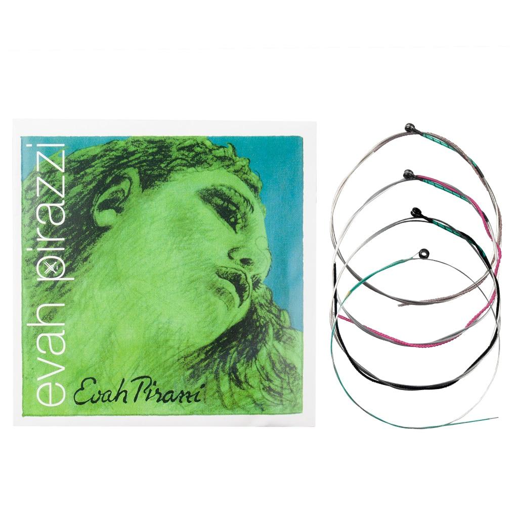 Pirastro evah pirazzi 4/4 cordas de violino conjunto slivery aço calibre médio bola de aço-fim e corda violino alemão design