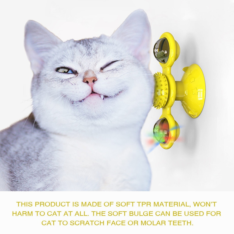 Turntable Funny Cat Toy Windmill Cat Toy Pet Toy For Cat Interactive Toy For Cats Cat Training Tool Cat Supplies