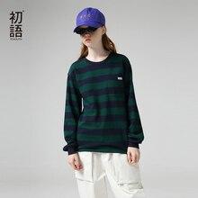 Tシャツカジュアルポケットパッチワーク長袖 女性秋のストライプ Tシャツ女性 ネックトップス