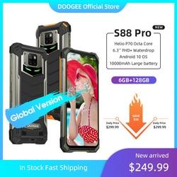 IP68/IP69K DOOGEE S88 Pro téléphone portable robuste 10000mAh téléphones Helio P70 Octa Core 6GB RAM 128GB ROM smartphone Android 10 OS