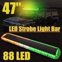 118CM Led Vehicle Warning Light Bar Aluminum Car Trucks Beacons Safety Emergency Lights Lightbar 12V/24V Amber Yellow