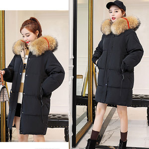 Image 4 - Winter Hooded Warm Down Coat Women Casual Long Down Jackets Ladies Thicken Cotton Parka Plus Size Outerwear Korean Harajuku Coat