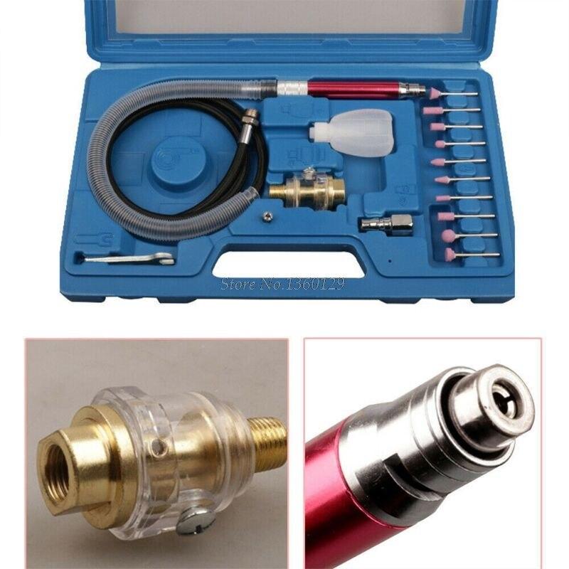 16pcs Ad Alta Velocità Micro Air Die Grinder Kit Mini Matita di Lucidatura Strumento di Incisione Professionale Rettifica Taglio Utensili Pneumatici