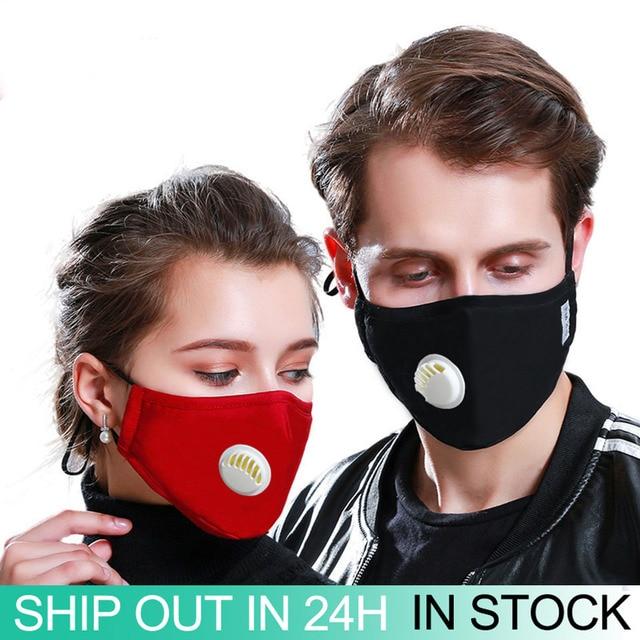 1Pcs Black PM 2.5 Mouth Mask Anti Dust Mask Fashion Cotton Windproof Mouth-muffle Proof Flu Face Masks Care Reusable