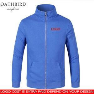 Image 1 - ロゴカスタマイズされたコットンパーカースタンド襟ジャケット DIY カスタマイズされたパターン designerhoodie 刺繍やデジタル印刷のロゴ
