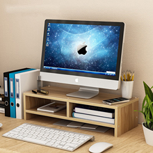 Desk-Holder Laptop-Stand Computer-Screen-Riser Shelf Wood for Notebook-Tv Multi-Function