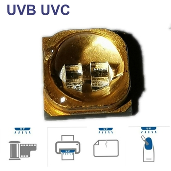 5pcs power  265nm 50MW UV LED Lamp beads for UVC gel curing light SMD 3535 seoul chip Quartz package LED 3D printing LED curing
