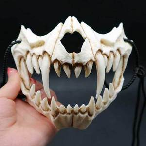 Image 3 - 17 Style Dragon God Mask Cosplay Prop Tengu Tiger Mask Halloween Resin Animal Theme Masks