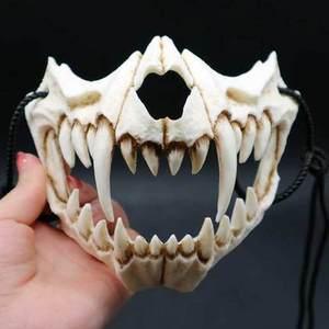 Image 3 - 17 stil Drachen Gott Maske Cosplay Prop Tengu Tiger Maske Halloween Harz Tier Thema Masken
