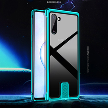 For Samsung Galaxy Note 10 Plus + Case Luxury Aluminum Metal Bumper Frame Armor Protective Tempered Glass Phone Case Cover