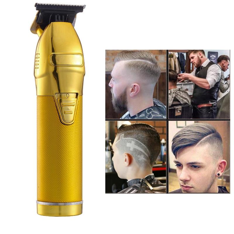 Профессиональная машинка для стрижки волос Машинка для стрижки бороды и усов; Для мужчин Парикмахерская 0,1 мм Белоголовый машинки для стриж...