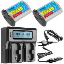 LP E19 LP E19/LP E4N Batterij met LCD Dual Slot Snelle Oplader voor Canon EOS 1DX/1D X Mark II /1Ds Mark III/1D Mark III/1