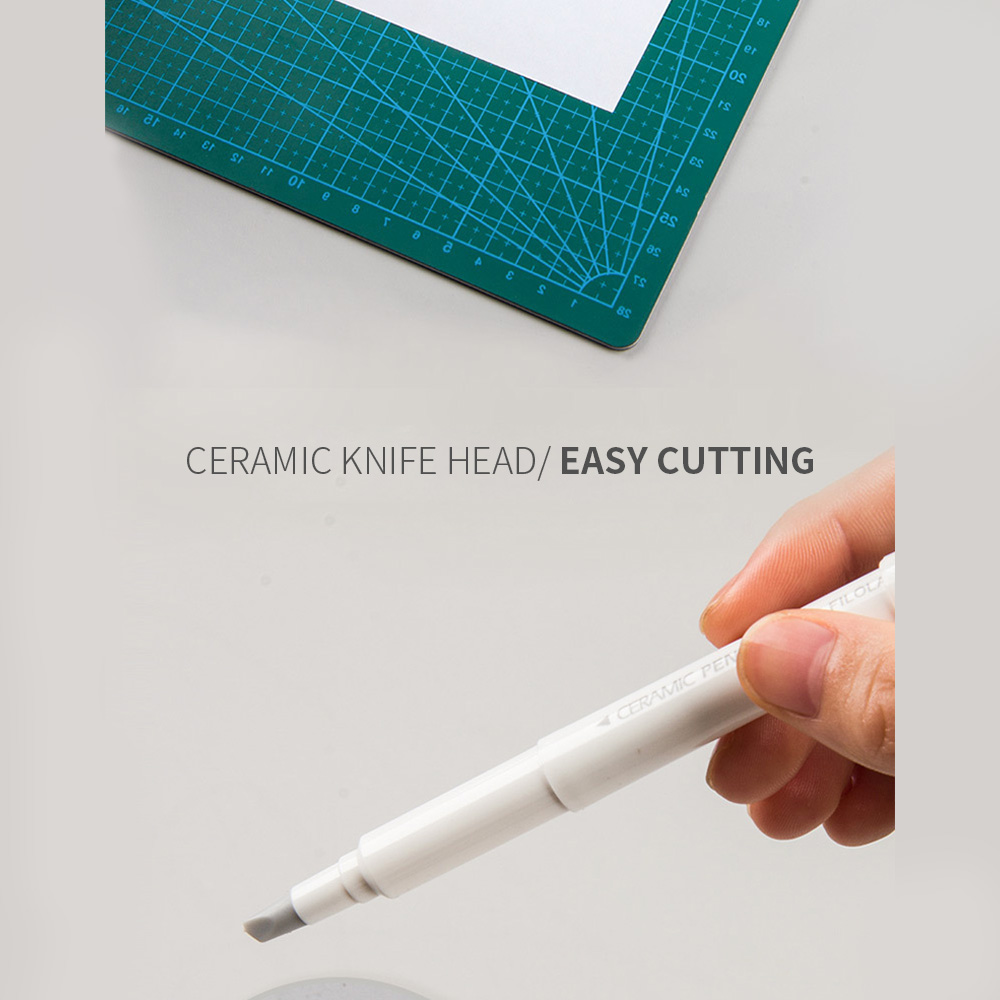 2pcs Japan Creative Paper Pen Knife Wear-Resisting Newspaper Hand Book Paper Cutter Tape Ceramic Blade Cutting Knives
