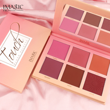 IMAGIC 6 Color Blush Makeup Single Blush Face Cheek Nude Natural Pressed Powder Blusher Long Lasting Face Make up Cosmetic недорого