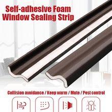 Self adhesive Foam Window Sealing Door Seal Strip Universal Noise Insulation Weatherstrip Sealing Rubber Strip Trim Auto Rubber