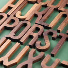 Decorative Letters-Combination Walnut-Letter Wooden Alphabet Nordic-Style Black DIY NEW