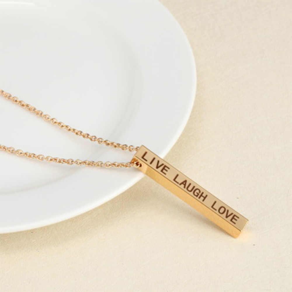 Женское барное ожерелье, подвески, мужское ожерелье, цепочка из нержавеющей стали, кулон, женское длинное ожерелье, пара, влюбленные подарки, модное ювелирное изделие