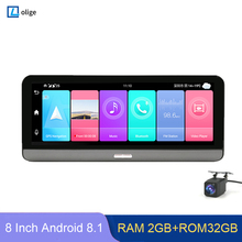 8 inch 4G ADAS Android 8,1 Dash Cam 2 + 32GB GPS Navigation WiFi Auto DVR Kamera 1080P Video Recorder g-senor parkplatz überwachung