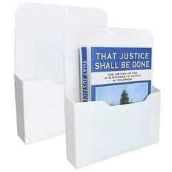 2 Pack Magnetic File Holder - Paper Holder, Pocket Organizer,Hanging Wall File Organizer Office Supplies Storage, Magazine Mail