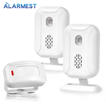 Welcome Shop Store Home Welcome Chime Wireless Infrared IR Motion Sensor Door bell Alarm Entry Doorbell Reach 150m doberman security entry defender with chime infrared motion detection home alert sensor ir doorbell home security alarm system