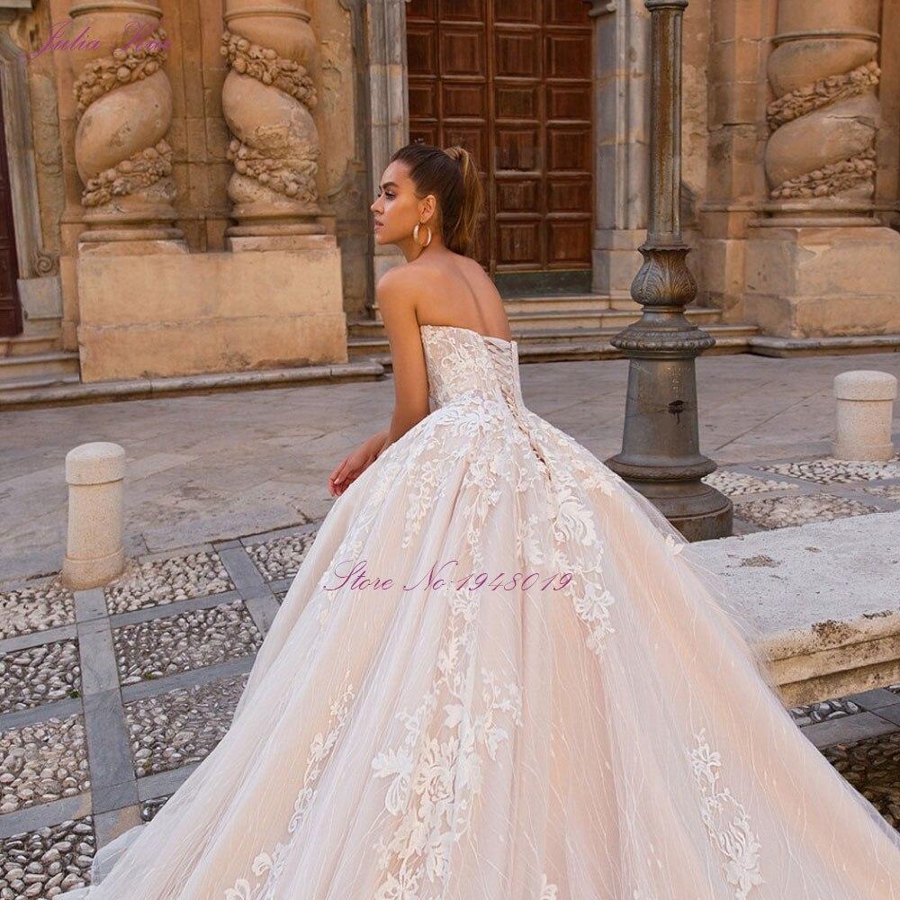 Julia kui uma linha vestidos de casamento