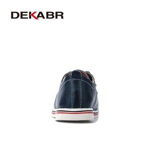 Image 3 - DEKABRขนาด 38 ~ 47 รองเท้าผู้ชายBreathableรองเท้าผ้าใบแฟชั่นMasculinoหนังแท้รองเท้าZapatos Hombre Sapatosรองเท้าผู้ชาย