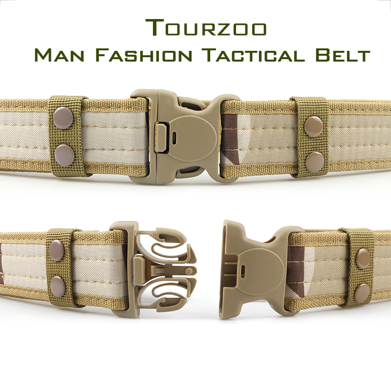 Army Style Combat Belts Quick Release Tactical Thickened Widen Belt Fashion Men Canvas Waistband Outdoor Hunting Accessories