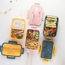 1 шт съедобный пластиковый Ланч бокс с посудой контейнер для