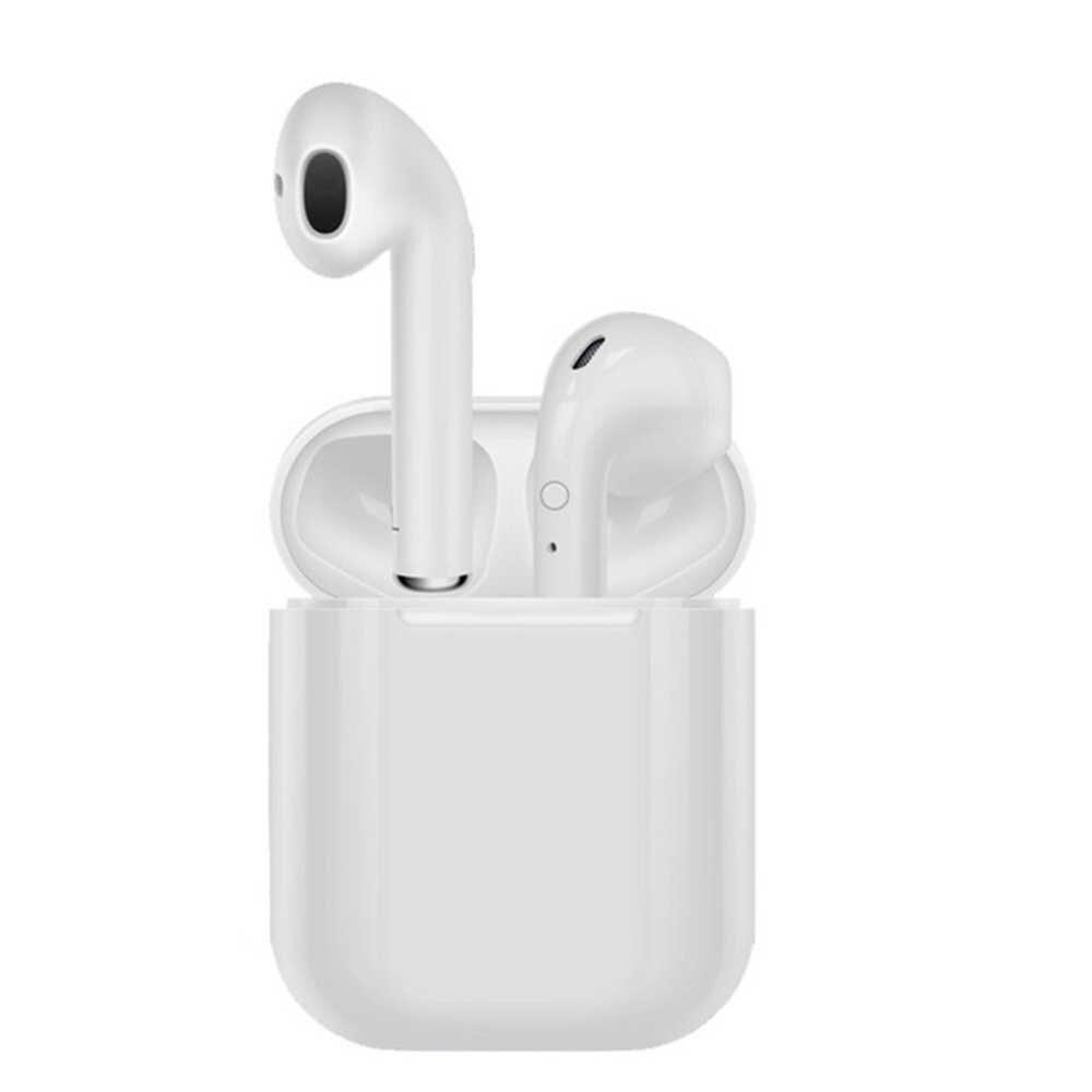 I9S TWS หูฟังบลูทูธชุดหูฟังไร้สายหูฟังบลูทูธ 5.0 สเตอริโอกีฬาหูฟังพร้อมไมโครโฟนสำหรับ iPhone Android