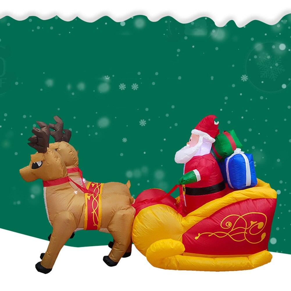 2020 Kerst Opblaasbare Herten Winkelwagen Kerst Dubbele Herten Winkelwagen Hoogte 135 Cm Kerstman Kerst Dress Up Decoraties - 5