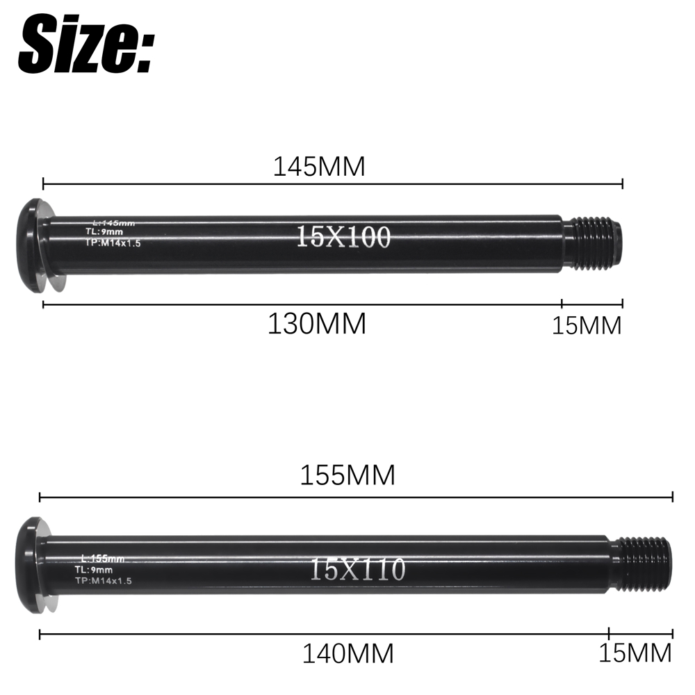 MTB ön aks aks kolu 100x1 5/110x15mm aksesuarları tilki SC 32 34 36 serisi ön 50g